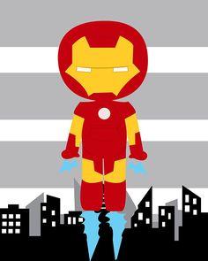 Iron man superhero wall art print Ironman wall decor 8x10