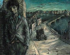 This is Blitzed City with Self-Portrait 1941 by John Minton    The Persephone Post