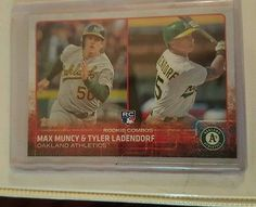 2015 Topps Update, Rookie Combos, Max Muncy & Tyler Ladendorf, A's #US54 (RC)