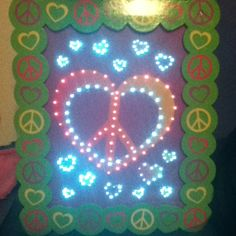 Glowing peace sign!