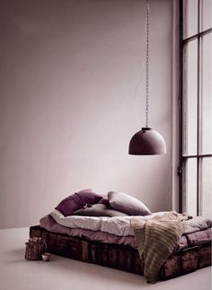 The deeper shades of purple and plum here would look lovely on certain accessories in the bedroom.