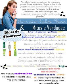 Jéssica Costa: Dicas cabelos oleosos & Mitos e Verdades!