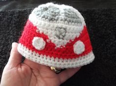 vw campervan beanie hat for newborn baby