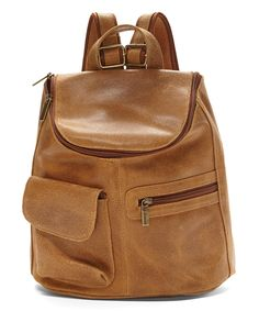 431bb96b3d28 Take a look at this Le Donne Tan Leather Backpack today! Bőr Hátizsák, Chloe