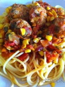 Turkey Meatballs fit for Lady and the Tramp.