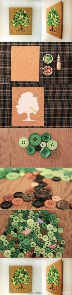 [9] buttons DIY creative home new ideas, skilled to do a bar ~