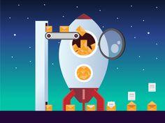 Email Marketing Rocket - ebook cover illustration