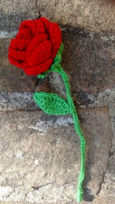 Hey, I found this really awesome Etsy listing at https://www.etsy.com/listing/221767422/handmade-crochet-long-stemmed-rose
