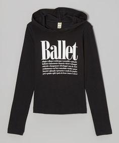 Look what I found on #zulily! Black 'Ballet' Hoodie by Dancewearables #zulilyfinds