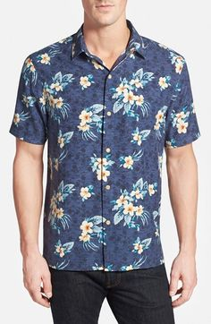 Free shipping and returns on Tommy Bahama 'Garden of Hope and Courage' Original Fit Silk Shirt at Nordstrom.com. A multilayered floral print keeps it classic on a short-sleeve spread-collar sport shirt in pure, smooth silk.