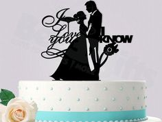 Starwars Inspired Han and Leia Wedding Cake Topper by Bee3DGifts
