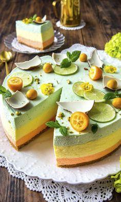 Keväinen juustokakku | Meillä kotona Delicious Cake Recipes, Yummy Cakes, Yummy Food, Fancy Desserts, Köstliche Desserts, Sweet Cooking, Raw Cake, Maila, Food Porn