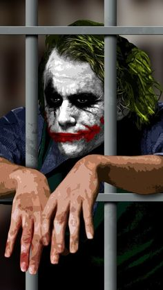 #Heath #Ledger as #Joker in Batman the Dark Knight Trilogy! Get it for your iPhoneWallpaper!  Find out more galleries at http://iphone5retinawallpaper.com/gallery.php?cat=Animation