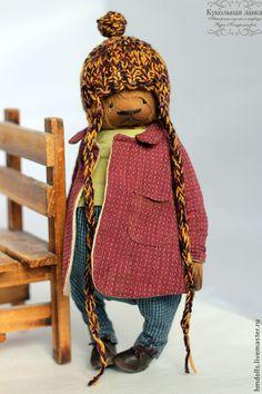 Купить Дениска К. - коричневый, бордовый, свекольный, синий, мишка, тедди, мишка тедди, teddy