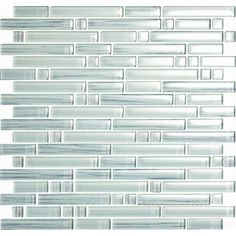 "Epoch Architectural Surfaces Brushstrokes Bianco 12"" x 12"" Random Mosaic in White"