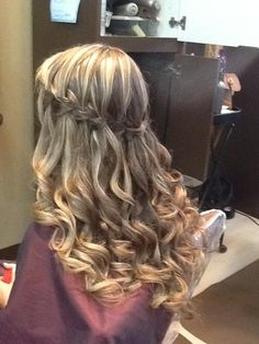 Cascade braid, long hair - Great formal hair style . . . Prom, Weddings et,