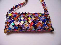 Handmade Candy Wrapper Purse por JewleryHound en Etsy