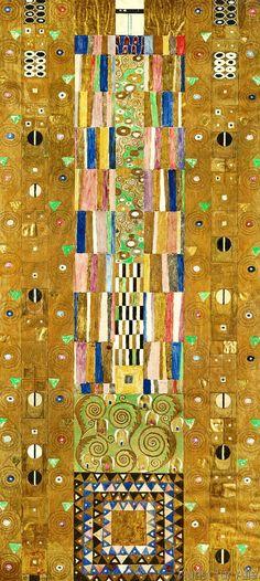 Gustav Klimt - Dekoratives Panneau (Der Ritter)