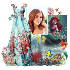 Isla Fisher as Ariel, created by musicisair on Polyvore