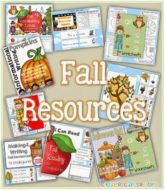 A collection of Fall reading and writing resources from Clever Classroom
