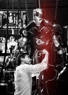 I love how Iron Man builds his own superpower
