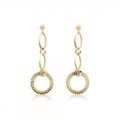 6968affb2062 14K Solid Yellow Gold Circle Dangle Earrings DESCRIPTION • Material   Genuine 14K Solid Yellow Gold