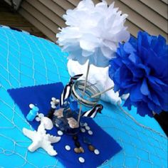 Centerpiece- Nautical birthday party