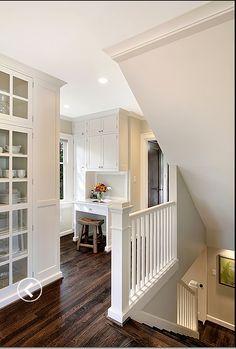 white walls dark hardwood floors