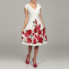 Cece's New York Women's Rose border print dress $53.99