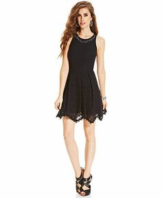 Jessica Simpson Dress, Sleeveless Azel Scalloped Lace - Dresses - Women - Macy's $89