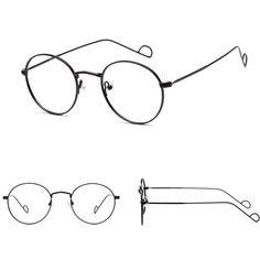 Aviator Circle Glasses frames only unisex vintage spectacle frame for  female and men glasses d6dfb0410e