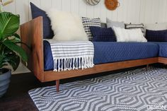 Plywood Mid-Century Modern Daybed-DIY | DeeplySouthernHome