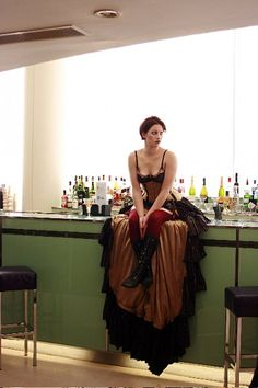 Amanda Palmer (in an amazing skirt and cute dark garden bee corset, though you can't see much of it here)