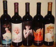 Marilyn Monroe 1994 - 1998 Merlot Collectable Rare 5 Bottle Wine Set Full Sealed