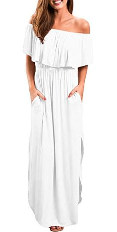 Casual White Beach Dresses: If you're looking for a super flattering casual white dress for your next vacation or summer party, you've come to the right place. Long summer dresses as well as short and sassy beach dresses. Simple Summer Dresses, White Dress Summer, White Maxi Dresses, Beach Dresses, Party Dresses, Beach Hairstyles, Men's Hairstyle, Formal Hairstyles, Ponytail Hairstyles