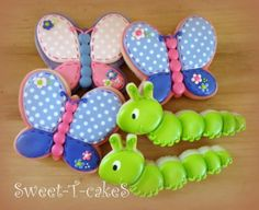 Earth Day for Young Children - Butterflies and Inch Worms Decorated Cookies