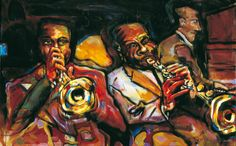 Jazz Art Paintings / Sidney Bechet / acrylics on canvas / 160x120 cm. / Sold