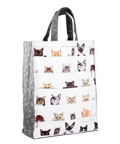 Look what I found on #zulily! Peeping Felines Tote Bag #zulilyfinds