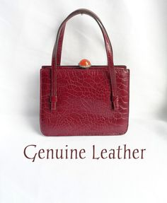 Genuine Leather Vintage Reptile Handbag by Best & Co. Fifth Ave New York at ThatchandSloane on Etsy.com.