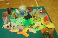 Polska: mapa 3D, przyroda, geografia, uczniowie
