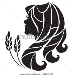 Virgo zodiac sign. Isolated on white background. Vector Illustration