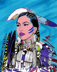 Dancing Star by Riel Benn(award winning artist from the Birdtail Sioux First Nation,Southwestern Manitoba)