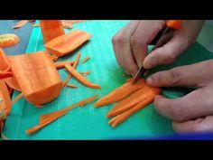 Legend of Dragonfly : Vegetable Carving By Mr.Carrot - YouTube