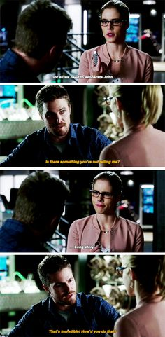 """#Arrow 5x11 """"Second Chances"""" - """"Saving Dig is going to break at least twelve federal laws. Hacking your DA is just small ball. Plus, you're the mayor. You can pardon me"""" - FelicitySmoak #OliverQueen"""