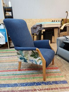 Parker Knoll armchair - full restoration and reupholstered by FloralChicken on Etsy
