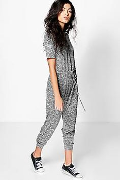 Emily Knitted Casual Cap Sleeve Jumpsuit Christmas Pjs f0b103a3a