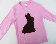 Brown Chocolate Easter Bunny Rabbit  Applique by charlieandsarah