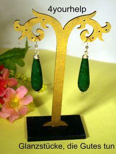 Ohrhänger - edle Smaragdohrhänger in Tropfenform - ein Designerstück von 4yourhelp bei DaWanda
