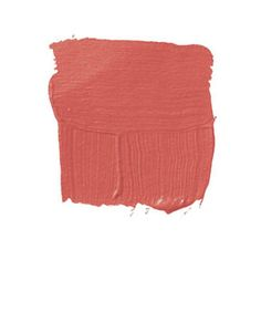 """Moorish Red  PAPERS & PAINTS LTD. MOORISH RED HC55: """"You can see the ground-up pigment in this paint, which gives it depth and a little iridescence. It's not flat, like American paints. All those 18th-century Robert Adam rooms were done this way. Red is an action color, but this has a lot of coral and umber, which softens it. It conjures up Greek vases and the walls of Knossos. It has the weight of antiquity. I believe in the future, but I still like an edge of the past."""" -David Easton"""