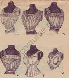 1910-1920   История костюма Женские лифчики. Мода в России, 1912 год